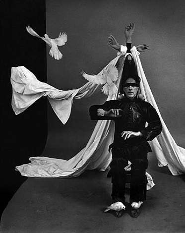 "jean cocteau, ""the blind poet believes that he is the emperor of china"" by philippe halsman"