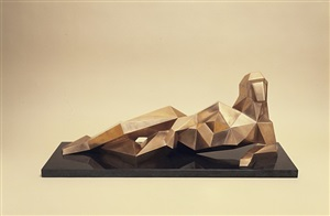 reclining cubist nude 142 by jim e. ritchie