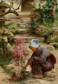 in the garden by charles john arter