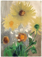 gelbe dahlien / yellow dahlias by emil nolde
