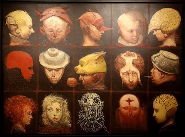 quince retratos locos by roberto fabelo