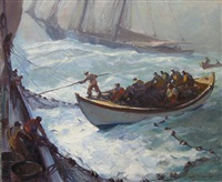 hauling the nets by emile albert gruppe