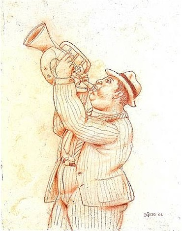 trumpeter by fernando botero