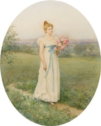 a leisurely summer day by jennie augusta brownscombe