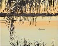 palma con tramonto by gianluca di pasquale