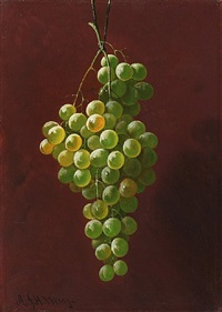 still life of grapes by andrew john henry way
