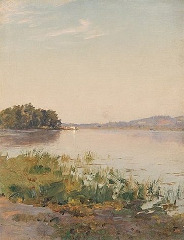 summer on the hudson by walter launt palmer