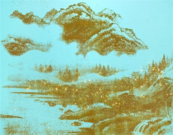 artificial landscape transparent mint by kim jongsook