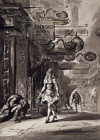 eyes tested by reginald marsh