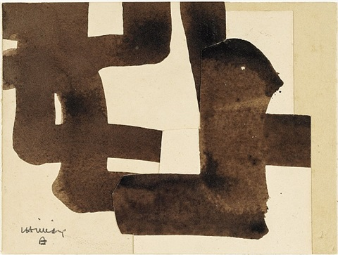 collage noir by eduardo chillida