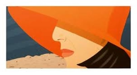 ada with orange hat from alex and ada portfolio by alex katz