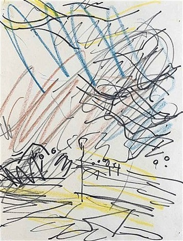 primrose hill by frank auerbach