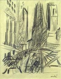 wall street - trinity by john marin