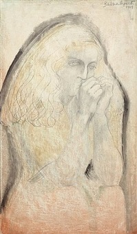 study for lisa (hands to face) by barbara hepworth