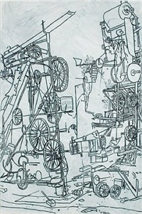 h2ny tinguely's contraption, nation by michael landy