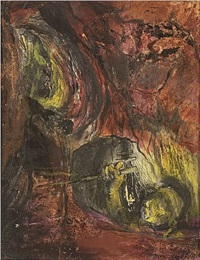 miner emerging from a stope by graham sutherland
