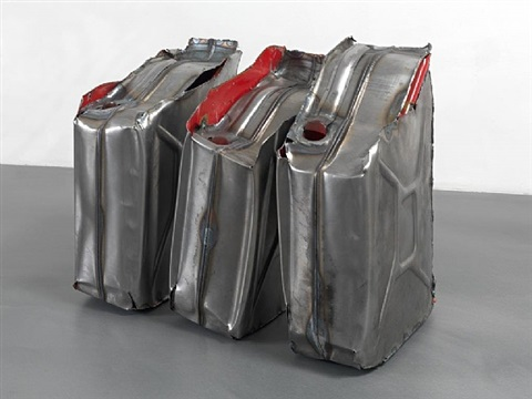 untitled (everted jerry cans 3, 4, & 5) by matias faldbakken