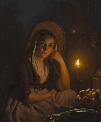 by the candlelight by petrus van schendel