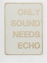 only sound needs echo by darren almond