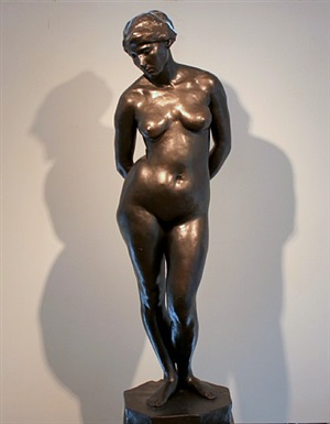 standing nude by martin borgord