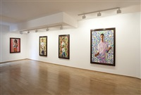 exhibition view, galerie daniel templon, 2012 by kehinde wiley
