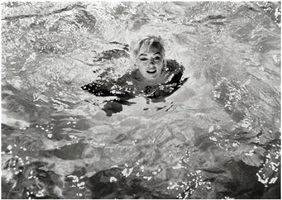 "first dip, marilyn monroe, ""something's got to give"" by lawrence schiller"