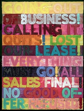 going out of business by mel bochner