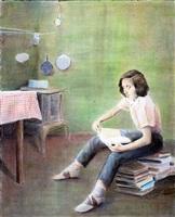 junge leserin (susan sontag) by bernhard brungs