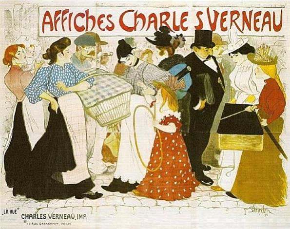 "affiches charles verneau/""la rue"" by théophile alexandre steinlen"