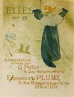 elles (color poster) by henri de toulouse-lautrec