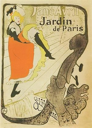 jane avril – jardin de paris by henri de toulouse-lautrec