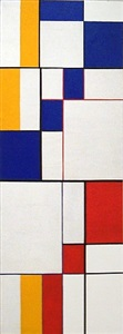 diagonal passage red blue yellow by leon polk smith