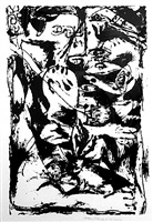 untitled (after cr#340) by jackson pollock