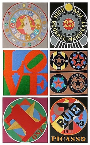 american dream book / portfolio by robert indiana