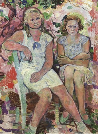 two girls by ludwig heinrich jungnickel