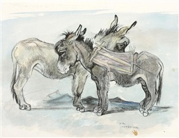 two donkeys vis-a-vis by ludwig heinrich jungnickel