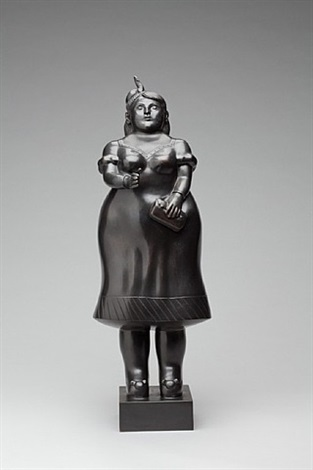 woman dressed (da prato) by fernando botero