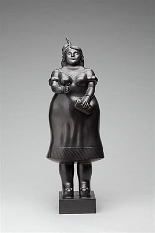 woman dressed (da prato) by fernando botero