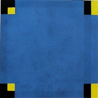 untitled (blue/yellow) by harvey quaytman