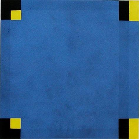 untitled (blue/yellow) by harvey quaytman