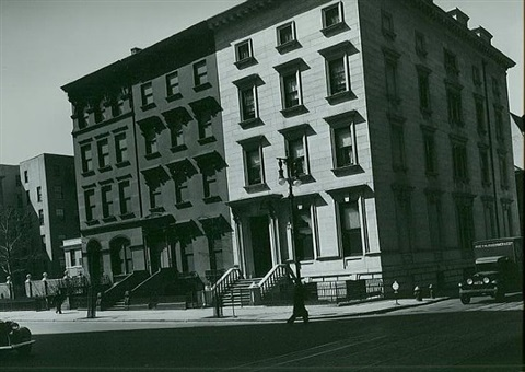 fifth avenue row houses by berenice abbott
