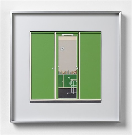 green dressing room by lucy williams