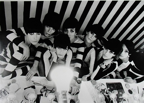 "models backstage, film ""who are you, polly magoo?"" by william klein"