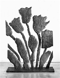 flowers with cut sides by donald baechler