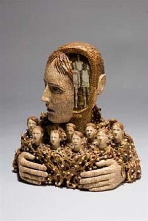 head sculpture by richard cleaver