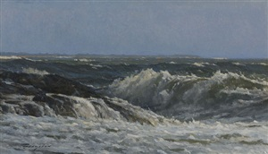summer waves (sold) by peter bergeron