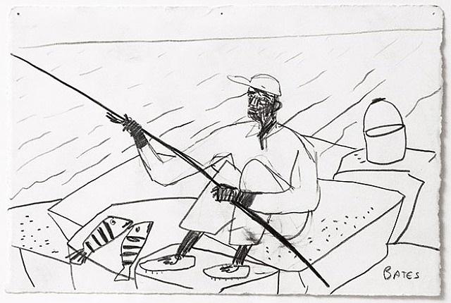 jetty fishing i by david bates