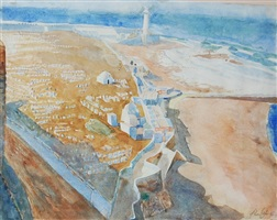 great lighthouse at rabat, morocco by john cobb
