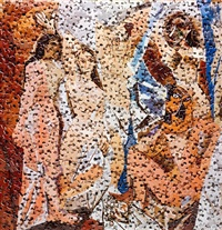les demoiselles d'avignon, after pablo picasso (gordian puzzles) by vik muniz