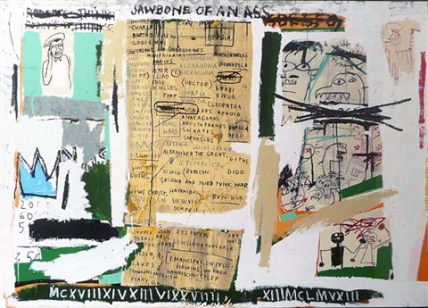 jawbone of an ass by jean michel basquiat